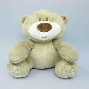 """Mothercare Loved So Much beige Teddy Bear sitting soft toy plush comforter 9"""""""