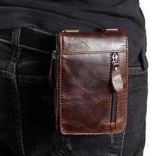 Herren Echtleder Gürtel Gürteltasche Handy Tasche Kuriertasche Fanny Pack