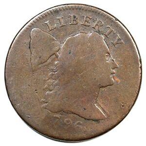 1796 S-85 R-5- Liberty Cap Large Cent Coin 1c