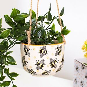 Busy Bees Hanging Planter, Indoor Plant Pot, Flower Pot by Sass & Belle