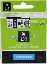 Original DYMO Schriftband Label Cassettes 12mm black/clear S0720500 45010