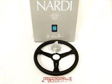 NARDI 360MM STEERING WHEEL CLASSIC LEATHER BLK/BLK/WHT