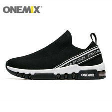 Men Slip-on Knit Breathable Sneakers Outdoor Sports Loafers Walking Shoes ONEMIX