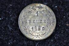 New listing 1847 - Germany Hesse Darmstadt 1 Kreuzer! #H9051