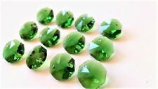 50 Dark Green Octagon Chandelier Crystal Lead Crystal Beads Octagons