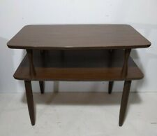 Vintage Retro 2-Tier Formica Top End Side Table - Mid Century Modern