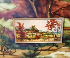 Italien Paysage en d'automne Couleurs Original Tableau sign. ARCO