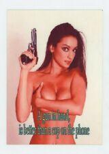 Sexy Brunette Large Metal fridge / gun safe Magnet - Busty
