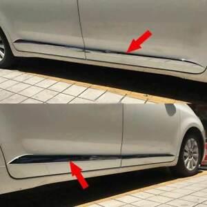 fit 2011-2020 Toyota Sienna MPV Chrome Body Side Door Molding Cover Trim Garnish