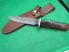 "CUSTOM DAMASCUS FIXED BLADE KNIFE BY ""JOHN GRECO "" BONE HANDLE BEAUTIFUL"