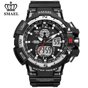 SMAEL Men LED Digital Wristwatch Multifuntional Outdoor Sport Watch Dual Display