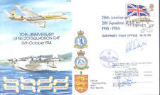 AC15b Nimrod No 201 Squadron Guernsey RAF signed cover