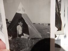 100 PHOTOGRAPHS OF CAMPING GLAMPING 1920S - 1960s  wow fun lot --- tent camp