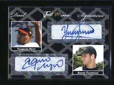 YUSMEIRO PETIT / AARON THOMPSON RARE 2005 JUST DOUBLE BLACK AUTO #1/2 AB5481