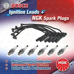 6 x NGK Spark Plugs + Bosch Ignition Leads Kit for Audi A4 B6 8E 8H 2002 - 2005