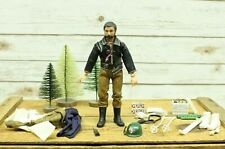 Vintage 1971 Action Jackson Mego Action Figure Dark Hair & Beard Extra Outfits