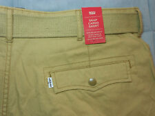 NEW LEVIS levi's size 40 SNAP CARGO SHORTS beige with BELT mens men's NWT