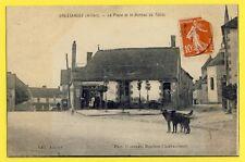 cpa Auvergne CRESSANGES (Allier) La place et le BUREAU de TABAC