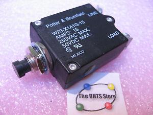 Potter & Brumfield W23-X1A1G-15 Circuit Breaker 250VAC 50VDC 15A - NOS Qty 1
