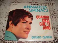 """ANNARITA SPINACI SANREMO'67 """"QUANDO DICO CHE TI AMO"""" ITALY"""