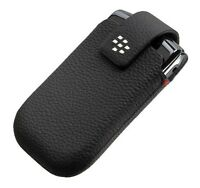 BLACKBERRY Bold 9700, 9790 BLACK LEATHER SWIVEL HOLSTER POUCH CASE COVER