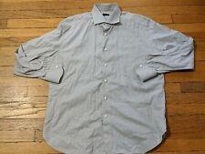 ERMENEGILDO ZEGNA MEN'S 43/17 LONG SLEEVE DRESS SHIRT