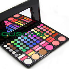 Profession Color Eyeshadow Palette Shading Powder Blusher Mixed Makeup Lipsticks