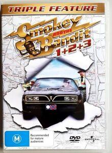 Smokey and the Bandit 1+2+3 (Triple Feature / Burt Reynolds) DVD (Region 4)