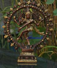 Shiva Nataraja Figur Messing zweifarbig 27 cm Statue 2,4 kg