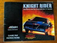 Knight Rider (Nintendo Entertainment System) NES - Manual Only - No Game
