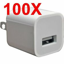 LOT 100 Universal-USB-AC-Power-USB Adapter Wall-Charger-for-iPhone X-Samsung NEW