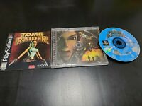 Tomb Raider (Sony PlayStation 1, 1996) COMPLETE! TESTED! W/ REGISTRATION!