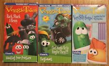 Veggie Tales VHS Lot 3 Very Silly Songs Rack Shack Benny God Wants Forgive Them