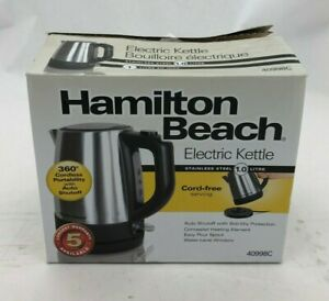 Hamilton Beach Electric Kettle | 1.0 Litre | Cordless Serving | Stainless Steel