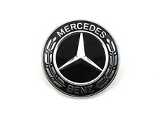 Genuine New MERCEDES BONNET BLACK BADGE Emblem C-Class W205 E-Class W212 W213