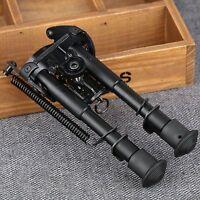"1X Adjustable 6""-9"" Rifle Bipod Spring Return Stand Mount 20mm Rail Hunting Game"