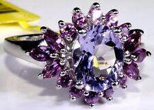 Rose De France Amethyst, Orissa Rhodolite Garnet Ring (Size 7.5) TGW 3.22 Cts