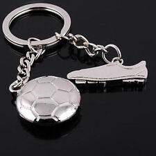 Cute 3D Soccer Shoe Metal Key Chain Keyfob Car Alloy Gift Keychain Key Ring