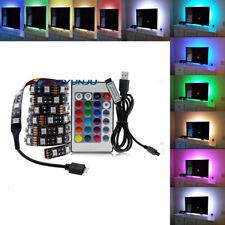 USB LED Strip Light 2835 5050 RGB TV Backlight Flexible Decoration DC 5V 0.5m-5m