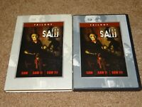 SAW Trilogy RARE OOP 3 DVD SET Saw I,II,III (1,2,3) w/ Slipcover HORROR 3 Movies
