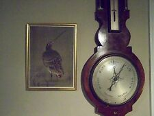 ASIAN ORIENTAL PRINT - ANTIQUE - PRETTY SANDPIPER IMAGE FRAMED MATTED