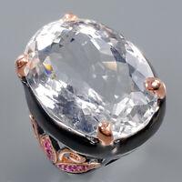 Quartz Ring Silver 925 Sterling 23x17 mm. IF GEM Size 9 /R140743