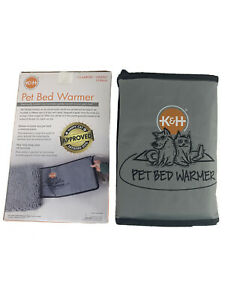 K&H Heated Pet Bed Warmer Dog Cat Electric Heating Pad Indoor Heater Mat LARGE