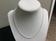 20 Inch 925 Sterling Silver Cross Chain Necklace