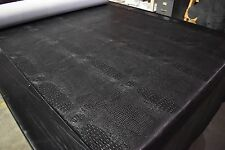 "Marine Vinyl Black Alligator 5 Yards Automotive Outdoor Upholstery Fabric 54"""