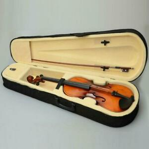 """New 16"""" Inch Wood Acoustic Viola with Case Rosin Bow Brown Color for Beginner"""