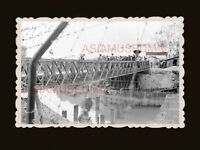 1940's Sham Chun River Bridge Lo Wu Immigration Hong Kong Photograph 香港旧照片 #3113