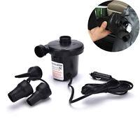 12V Auto Auto DC elektrische Luftpumpe Inflator +3 Düsen AirBed Matratze BootST