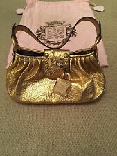 Juicy Couture Gold Leather Handbag