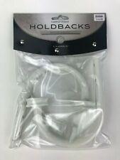 Cambria Premier Curtain Holdbacks Satin White Finish Metal Home Decor 44311 SW